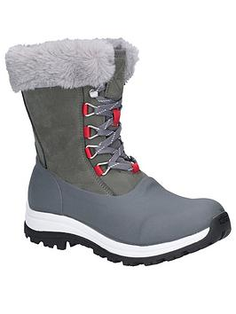 Muck Boots Muck Boots AprÈS Lace Mid Arctic Grip Welly Boots - Grey Picture