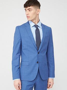 HUGO Hugo Harvey Check Slim Suit Jacket - Light Blue Picture