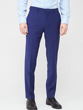 HUGO  Hugo Hesten Infinity Flex Extra Slim Suit Trousers - Bright Blue