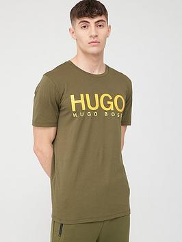 HUGO Hugo Dolive Hugo Logo Short Sleeve T-Shirt - Khaki Picture