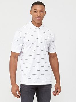 HUGO Hugo Datalites All Over Print Polo Shirt - White Picture
