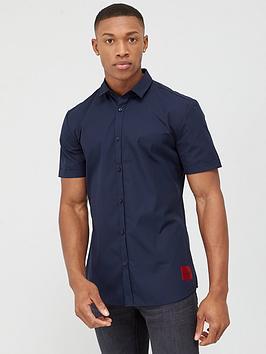 HUGO Hugo Empson Short Sleeve Shirt - Navy Picture