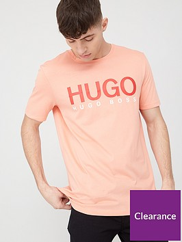 hugo-dolive-hugo-logo-short-sleeve-t-shirt-peach