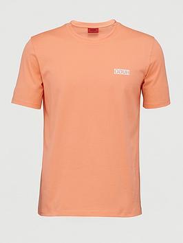 HUGO Hugo Durned Chest Logo T-Shirt - Peach Picture