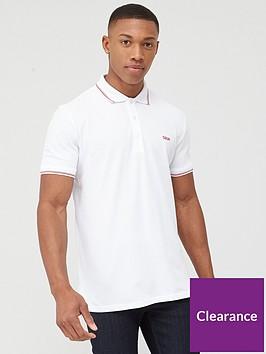 hugo-dinoso-pique-polo-shirt-white