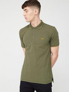 HUGO Hugo Dinoso Short Sleeve Pique Polo Shirt - Khaki Picture