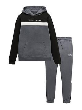 V by Very V By Very Cut And Sew Hoodie/Jogger Set - Grey Picture