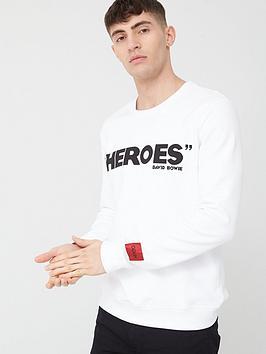 HUGO Hugo X David Bowie Heroes Sweatshirt - White Picture