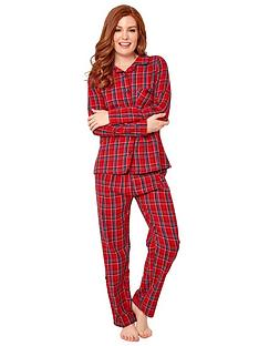 joe-browns-checked-pj-set-red