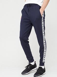 hugo-jersey-trousers-navywhite