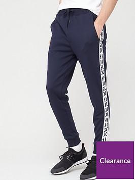 hugo-jersey-trousers-navywhite