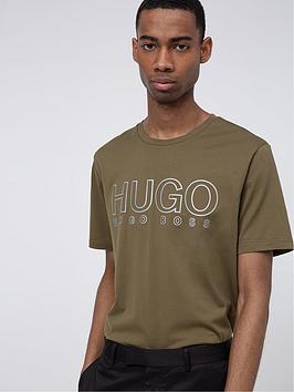HUGO Hugo Dolive 3M Logo T-Shirt - Khaki Picture