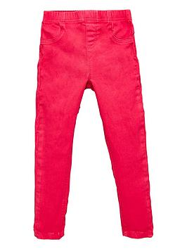 V by Very V By Very Girls Dark Pink Woven Jeggings - Dark Pink Picture