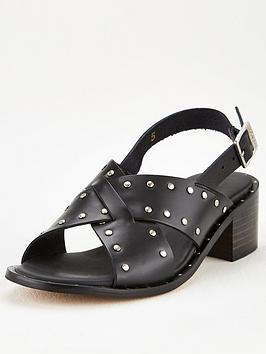 Barbour International Barbour International Skylar Heeled Sandals - Black Picture
