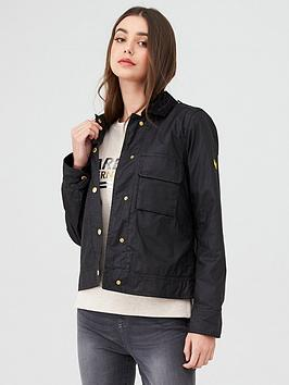 Barbour International   Ballpark Wax Jacket - Black