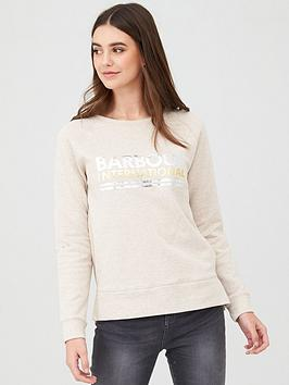 Barbour International Barbour International Distance Overlayer Sweatshirt  ... Picture
