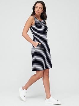 Barbour Barbour Dalmore Stripe Dress - Navy White Picture