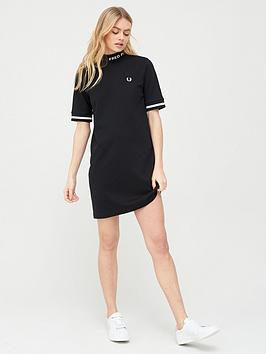 Fred Perry Fred Perry High Neck T-Shirt Dress - Black Picture
