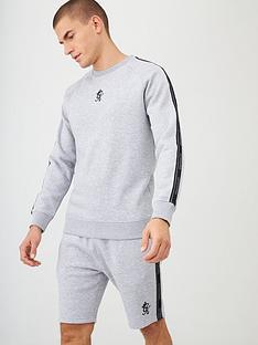 gym-king-printed-tape-crew-neck-sweatshirt-grey-marl