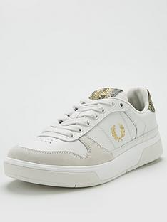 fred-perry-embossed-leather-suede-trainer-cream