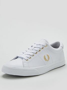 fred-perry-underspin-leather-pump-white