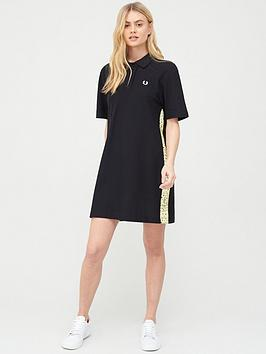 Fred Perry Fred Perry Precis Pique Dress With Floral Taping - Black Picture