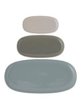 Typhoon Typhoon  World Foods Set Of 3 Serving Platters Picture