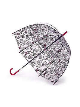 Lulu Guinness Lulu Guinness Birdcage Dressing Table Print Umbrella - Clear Picture