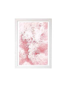 East End Prints  Pink Ocean By Sisi &Amp; Seb A3 Framed Wall Art