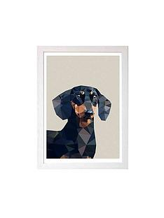 east-end-prints-dachshund-by-studio-cockatoo-a3-framed-wall-art