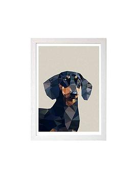 East End Prints East End Prints Dachshund By Studio Cockatoo A3 Framed  ... Picture