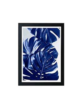 East End Prints East End Prints Monstera Blue By Elena Veronese A3 Framed  ... Picture
