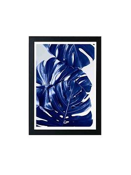 East End Prints Monstera Blue By Elena Veronese A3 Framed Wall Art