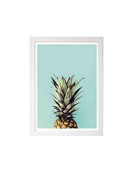 East End Prints Pineapple By Rafael Farias A3 Framed Wall Art