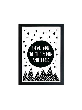 East End Prints East End Prints To The Moon By Native State A3 Wall Art Picture