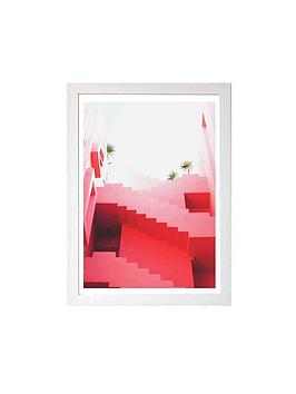 East End Prints East End Prints Pink Stairs By Rafael Farias A3 Framed  ... Picture