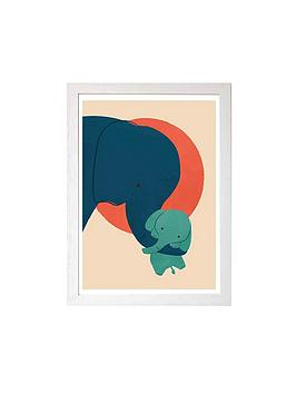 East End Prints   Baby Elephant By Jay Fleck A3 Wall Art