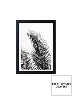 east-end-prints-palm-leaves-by-mareike-boehmer-a3-framed-wall-art