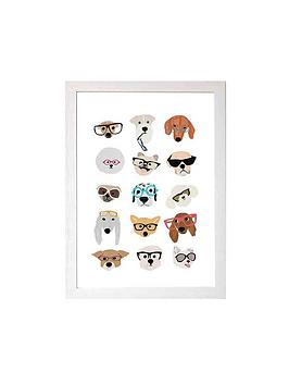 East End Prints   Dogs In Glasses Nu Hanna Melin - A3