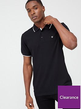 jack-jones-premium-axel-tipped-polo-shirt-black