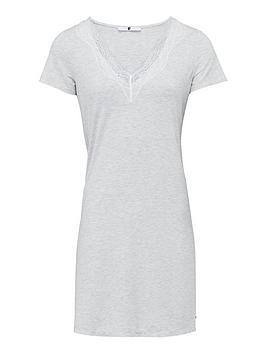 V by Very V By Very Lace Cami Slip Nightie - Grey Ivory Picture