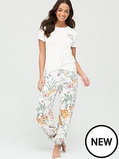 v-by-very-floral-vest-amp-trousernbsppyjamasnbsp--printed