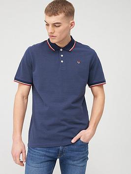 jack & jones Jack & Jones Premium Irwin Polo Shirt - Navy Picture