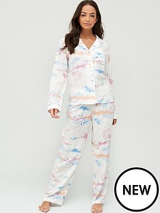 v-by-very-woven-button-through-pyjamas-cloud-print