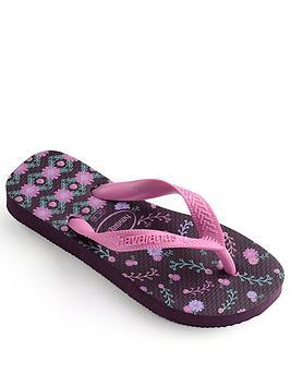 Havaianas Havaianas Girls Flores Flip Flop - Purple Picture