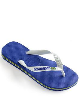Havaianas Havaianas Brasil Logo Flip Flops - Marine Blue Picture