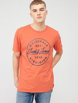 jack & jones Jack & Jones Originals Small Langmore Chest T-Shirt - Chilli Picture