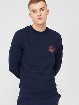 jack & jones Jack & Jones Originals Lagmore Small Logo Sweatshirt - Navy  ... Picture