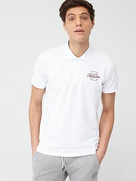 jack & jones Jack & Jones Originals Pex Logo Polo Shirt - White Picture