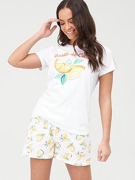 v-by-very-lemon-short-pyjamas-printnbsp